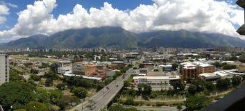 Cidade da skyline de Caracas fotografia de stock