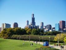 Cidade da skyline de Chicago fotografia de stock