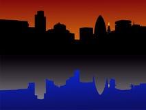 Cidade da skyline de Londres Imagem de Stock