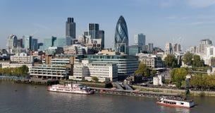 Cidade da skyline de Londres Fotografia de Stock