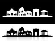 Cidade da skyline de Roma Fotografia de Stock