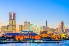 Cidade da skyline de Yokohama Fotos de Stock Royalty Free