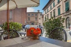 Cidade da tabela do terraço Foto de Stock Royalty Free