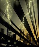 Cidade da tempestade Imagens de Stock Royalty Free
