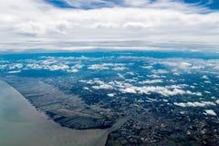 Cidade da vista aérea Fotografia de Stock