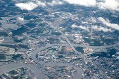 Cidade da vista aérea Fotografia de Stock Royalty Free