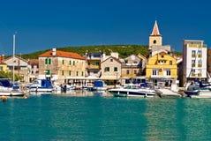 Cidade da vista panorâmica de Pirovac Fotografia de Stock
