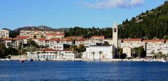 Cidade da vista panorâmica de Ploce imagens de stock royalty free