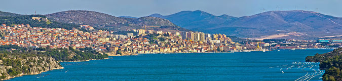 Cidade da vista panorâmica de Sibenik Fotos de Stock