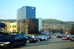 A cidade Danske Bank de Vilnius no outono cronometra o 11 de novembro de 2014 Fotos de Stock Royalty Free