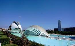 A cidade das artes e das ciências, Valencia Spain foto de stock