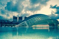 Cidade das artes e das ciências Foto de Stock Royalty Free