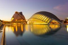 Cidade das artes e das ciências Fotografia de Stock Royalty Free