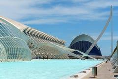 Cidade das artes e das ciências em Valência, Spain Fotografia de Stock