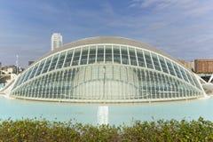 Cidade das artes e das ciências em Valença Foto de Stock Royalty Free