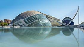 Cidade das artes e das ciências em Valença, Spain imagem de stock royalty free