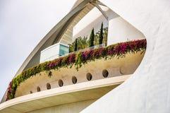 A cidade das artes e das ciências em Valença, Spain imagem de stock