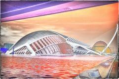 A cidade das artes e das ciências em Valença, Spain fotografia de stock royalty free