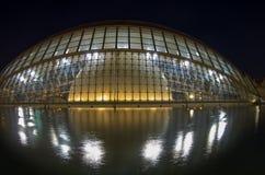 Cidade das artes e das ciências na noite Fotografia de Stock
