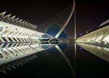 Cidade das artes e das ciências - opinião horizontal da ágora Fotos de Stock Royalty Free