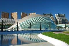 A cidade das artes e das ciências, Valença. fotografia de stock