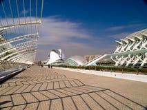 A cidade das artes e das ciências, Valencia Spain Foto de Stock Royalty Free