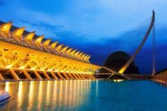 Cidade das artes e das ciências - EL Museu de les Ciencies Principe F Foto de Stock