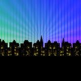 Cidade das luzes Fotos de Stock Royalty Free