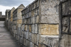 Cidade das paredes de York (Reino Unido) Imagem de Stock