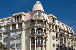 Cidade de agradável - arquitetura ao longo de Promenade des Anglais Foto de Stock