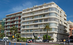 Cidade de agradável - arquitetura ao longo de Promenade des Anglais Imagens de Stock Royalty Free