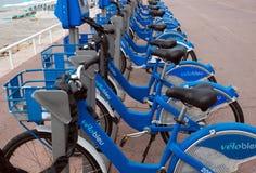 Cidade de agradável - bicicletas Fotografia de Stock Royalty Free