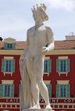 Cidade de agradável - estátua de Apollo no lugar Massena Foto de Stock