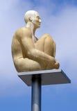 Cidade de agradável - estátua de incandescência no lugar Massena Imagem de Stock