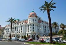 Cidade de agradável - hotel Negresco Imagens de Stock Royalty Free