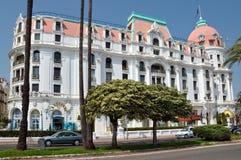 Cidade de agradável - hotel Negresco Imagem de Stock Royalty Free