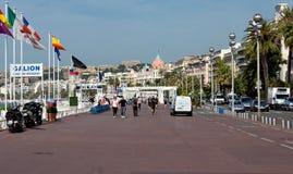 Cidade de agradável - Promenade des Anglais Fotos de Stock Royalty Free