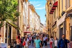 Cidade de Aix-en-Provence em França Imagem de Stock Royalty Free