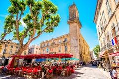 Cidade de Aix-en-Provence em França Foto de Stock Royalty Free