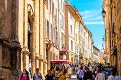 Cidade de Aix-en-Provence em França Imagens de Stock Royalty Free