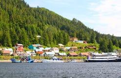 Cidade de Alaska de Hoonah fotos de stock