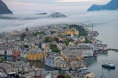 Cidade de Alesund, Noruega Imagens de Stock Royalty Free