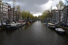Cidade de Alkmaar da paisagem da Holanda Foto de Stock Royalty Free