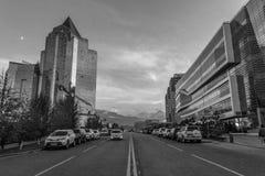 Cidade de Almaty Distrito financeiro Fotografia de Stock Royalty Free