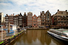 Cidade de Amsterdão Imagem de Stock Royalty Free
