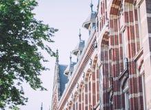 Cidade de Amsterdão, Países Baixos - curso no conceito de Europa foto de stock