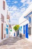 A cidade de Apollonia, Sifnos, Greece fotos de stock