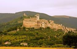 A cidade de Assisi fotos de stock