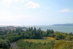 Cidade de Astoria Oregon fotografia de stock