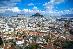 Cidade de Atenas foto de stock royalty free